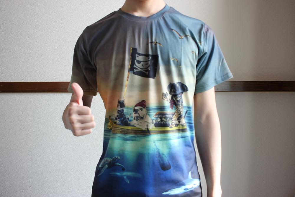 ピゾフのTシャツ着用