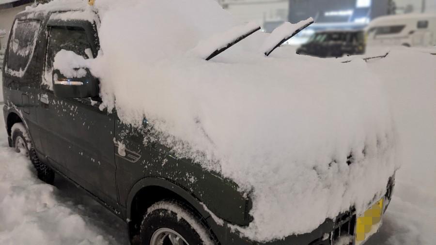 雪ジムニー